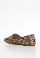 ALDO - Snakeskin leather loafer - multi
