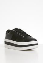 ALDO - Leather platform sneaker - black