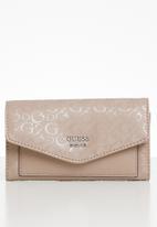 GUESS - Gleeson slim clutch - pink
