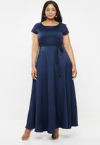 AMANDA LAIRD CHERRY - Plus size katya occasion dress - navy