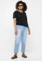 Missguided - Raw hem jeans - blue