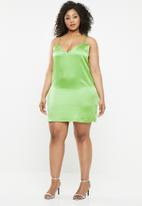 Missguided - Curve slip dress - green
