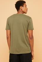 Superbalist - Plain crew neck short sleeve tee - khaki