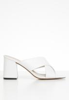 ALDO - Ulayma leather heel - white