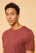 Superbalist - Longline curved hem short sleeve tee - burgundy