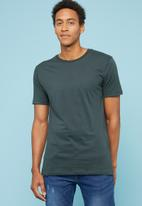 Superbalist - Plain crew neck short sleeve tee - charcoal