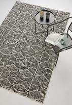 Sixth Floor - Burma woven outdoor rug - black