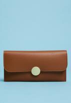 Superbalist - Button detail purse - brown