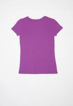 GUESS - Short sleeve tri molly tee - purple