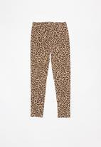 MINOTI - Teens leggings - brown & beige