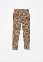 MINOTI - Teens leggings - brown & beige