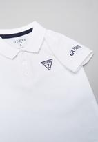 GUESS - Guess kids short sleeve core polo tee - white