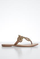 ALDO - Rithrania leather sandal - cognac