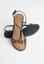 ALDO - Faux leather sandal - black