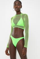 Missguided - 3 Piece mesh bikini set - green