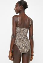 Cotton On - Strapless cheeky one piece  - multi