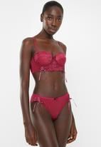 Sissy Boy - Padded multiway bra with detachable straps - burgundy