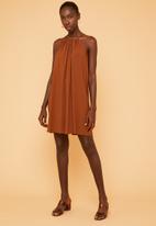Superbalist - Halter dress - rust