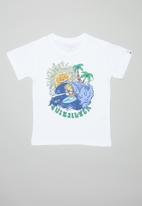 Quiksilver - Boom its done short sleeve boys tee - white