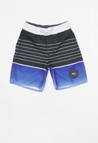 Quiksilver - Swell boys beach shorts - blue & black