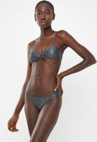 Sissy Boy - Metallic crop bikini top - grey