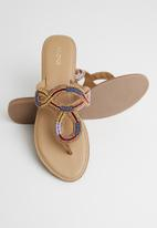 ALDO - Leather T-bar sandal - multi