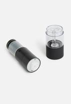 Excellent Housewares - Rubber peppermill - black