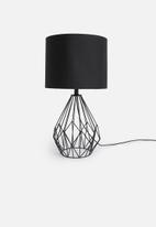 Sixth Floor - Huset table lamp - black