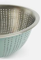 Excellent Housewares - Stainless steel colander - mint