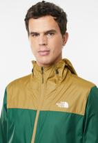 The North Face - Cyclone hoodie - brown & green