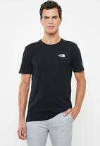 The North Face - Short sleeve red box tee - black