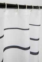Bathroom Solutions - Striped shower curtain - black/white