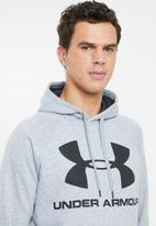 Under Armour - Rival fleece sportstyle logo hoodie - grey