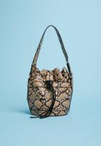 Superbalist - Animal print bucket bag - brown