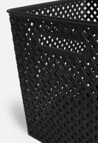 Storage Solutions - Polly storage basket large - black