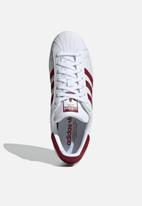 adidas Originals - Superstar - white / collegiate burgundy