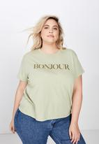Cotton On - Curve graphic tee - green