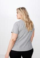 Cotton On - Curve graphic tee - grey