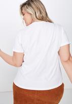 Cotton On - Curve graphic tee - white