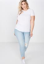 Cotton On - Curve girlfriend tee - white