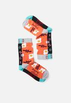 Sock Doctor - 2 pack all sort and bacon sock - multi
