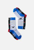 Sock Doctor - 2 Pack dog and cherry socks - multi