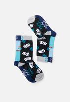 Sock Doctor - 2 Pack dice and ocean socks  - multi