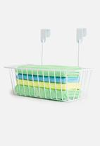 Storage Solutions - Metal storage basket - white