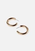 Cotton On - Super hoop modern metal earring - gold