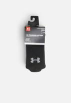 Under Armour - UA training cotton crew socks - black