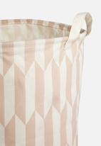 Sixth Floor - Arrow laundry basket - light orange & peach