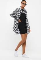 Vans - Broadway ii check dress - black & white