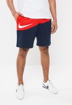 Nike - Nike Sweatpants swoosh shorts - multi