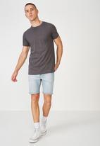 Cotton On - Essential longline curved hem T-shirt - grey